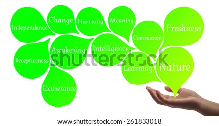 Colour Therapy -Green healing energy - stock photo