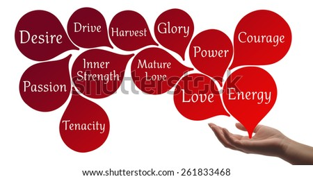 Colour Therapy -Red healing energy - stock photo