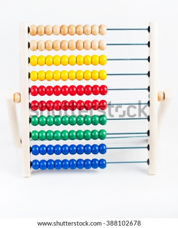 Colour wooden abacus