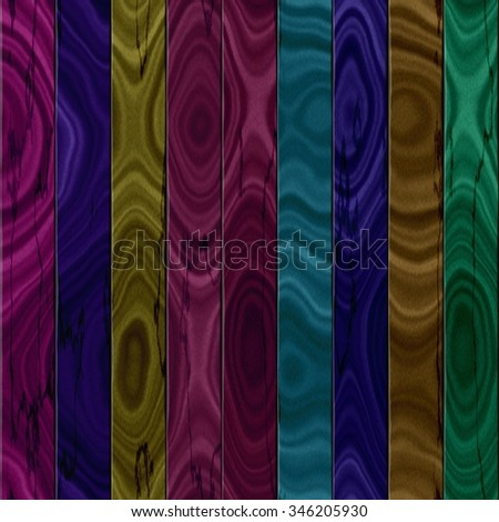 Colour wooden fence seamless texture or background - stock photo
