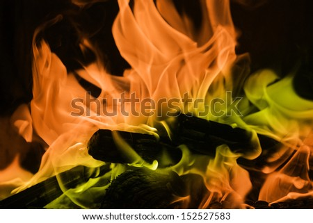 Coloured Flame