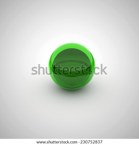 coloured glossy and shiny sphere