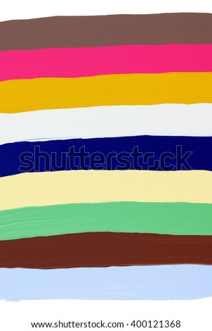 Coloured horizontal paintbrush strokes