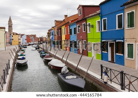 Coloured houses in Burano, Venica, Italy