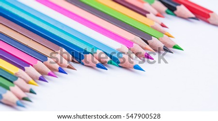 Coloured Pencils in a formation - Photo