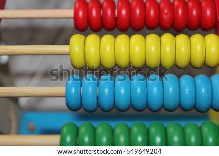 Colourful abacus kids toy