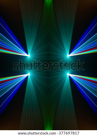 Colourful abstract Laserlight Background with space for text or image Pattern