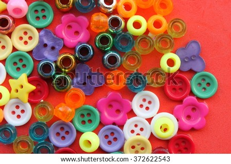 Colourful beads and buttons