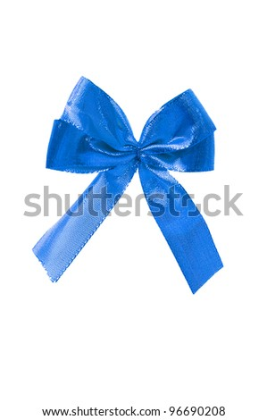 Colourful bow isolated on the white
