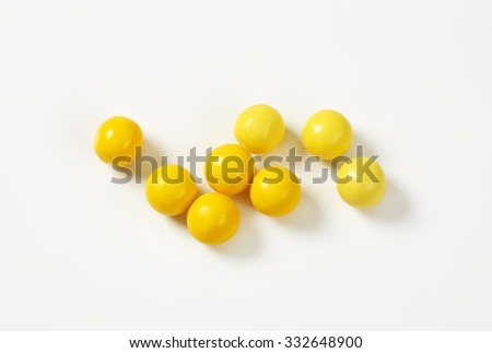 Colourful candy drops