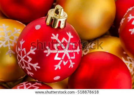 Colourful Christmas Baubles. Shallow Depth of Field. Useful as Background Pattern