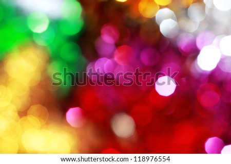 Colourful Christmas Lights Abstract Background - stock photo