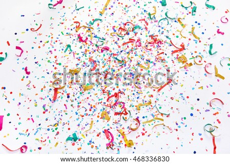 colourful confetti background, party celebration background