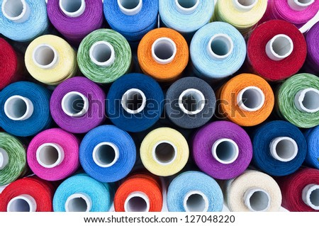 colourful embroidery thread