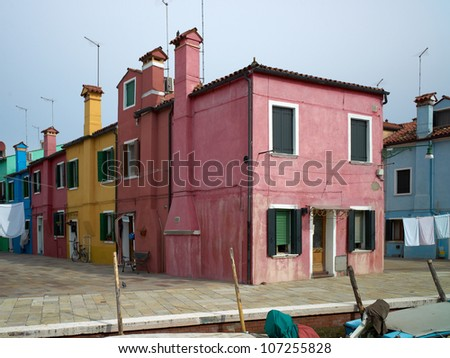 Colourful houses of Burano. Italy