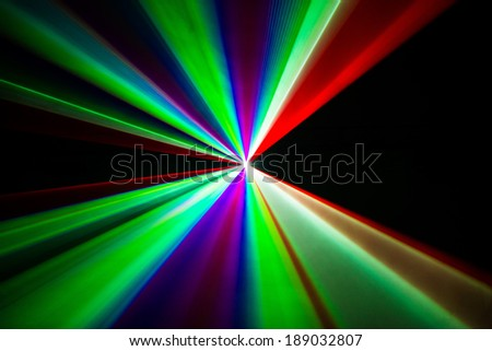 Colourful Laser beams shooting in all directions