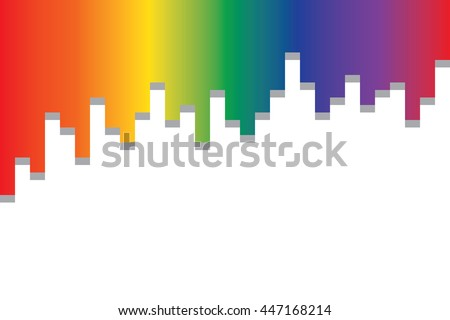 Colourful Lines Background Illustration