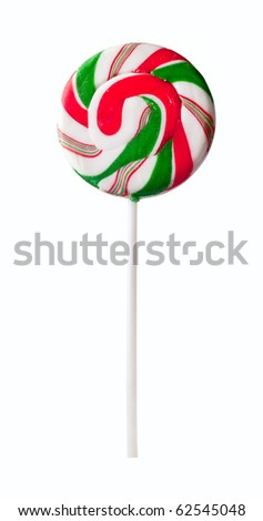 Colourful lollipop isolated on white background - stock photo