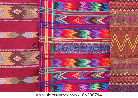Colourful Mayan tablecloths