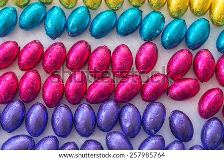 colourful mini easter eggs - stock photo