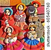 Colourful native handicraft dolls from Purmamaka,Jujuy,Argentina - stock photo