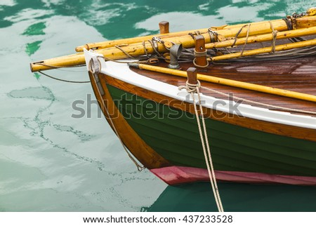 Colourful nose of fishing boat