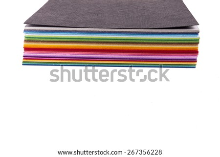 Colourful paper palette on white background. - stock photo