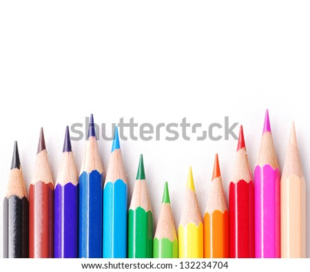 Colourful pencil