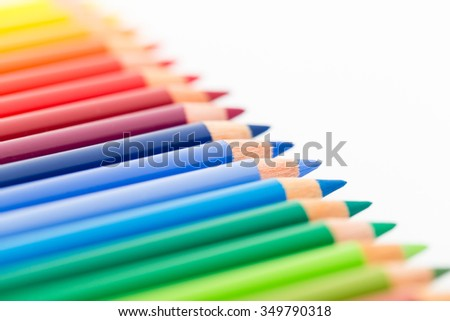 Colourful pencil  - stock photo