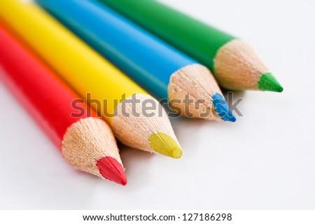 Colourful pencils - stock photo