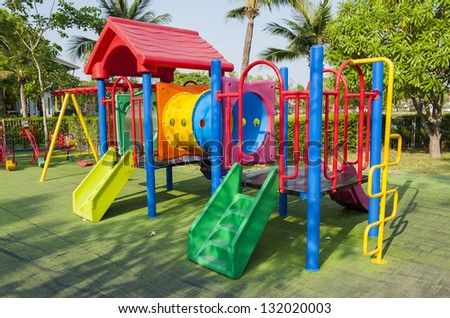 Colourful Playground without children