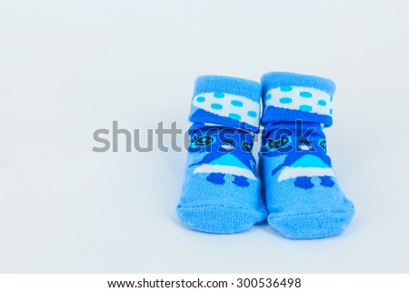 Colourful sock on white background.