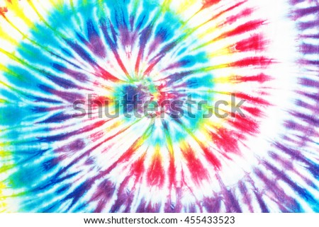 colourful spiral tie dye pattern abstract background.