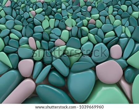 colourful stones background, 3d illustration
