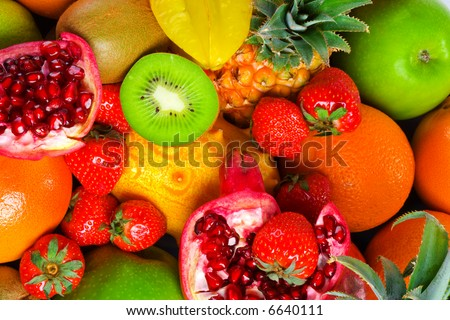 colourful tasty fruits