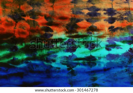 colourful tie dyed pattern abstract background.