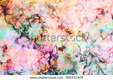 colourful tie dyed pattern on cotton fabric abstract background.  - stock photo