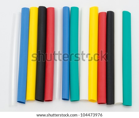 colourful tubes of shrinkable film for cable insulation
