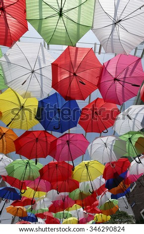 colourful umbrellas