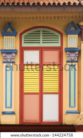 Colourful Windows, Singapore - stock photo
