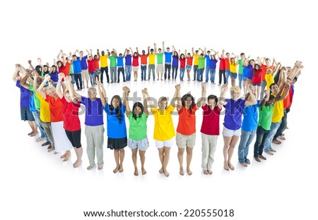 Colourful world united together - stock photo