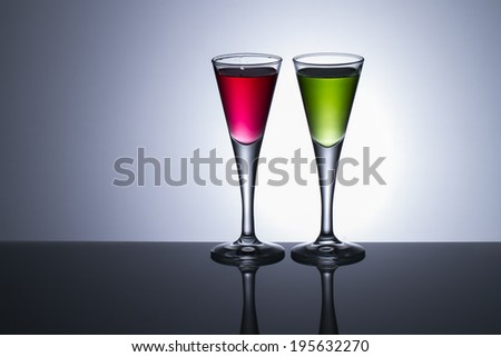 colours drinks - stock photo
