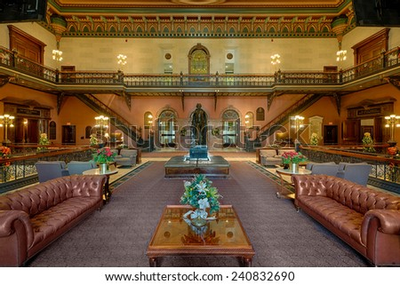 COLUMBIA, SOUTH CAROLINA - DECEMBER 9: Main lobby of the South Carolina State House on December 9, 2014 in Columbia, South Carolina