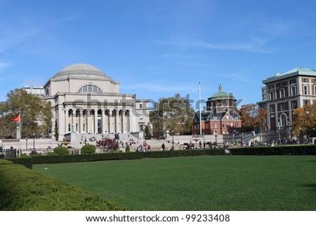 Columbia University Campus, Manhattan - stock photo