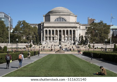 Columbia University New York USA - October 2016 - The Library of Columbia University on the Upper West Side NYC