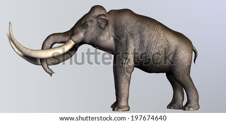Columbian Mammoth Side Profile - The Columbian Mammoth lived during the Quaternary Period of North and Middle America.