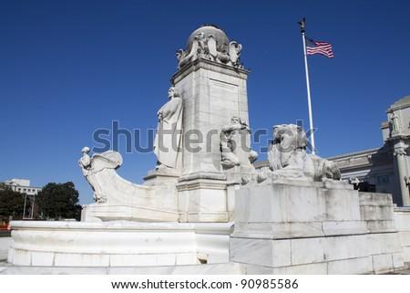 Columbus Monument at Union Station, Washington DC - stock photo