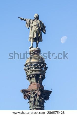 Columbus Monument, Barcelona, Spain - stock photo