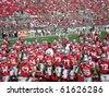COLUMBUS, OHIO - SEPTEMBER 18: The Ohio State Buckeyes  prepare for their game against the OU Bobcats on September 18, 2010 in Columbus, OH. - stock photo