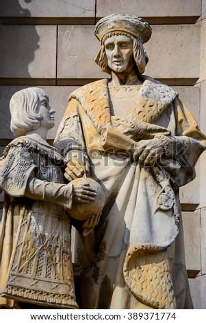 Columbus statue, Barcelona - stock photo